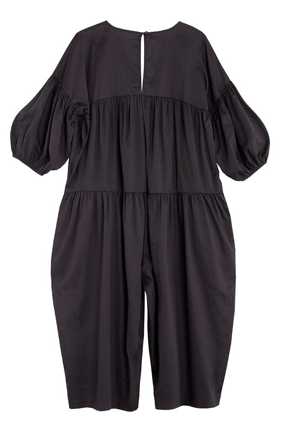 Black Puff Jumpsuit
