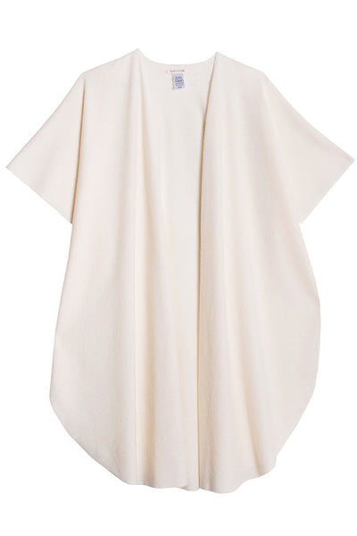 Black Crane - Cream Poncho
