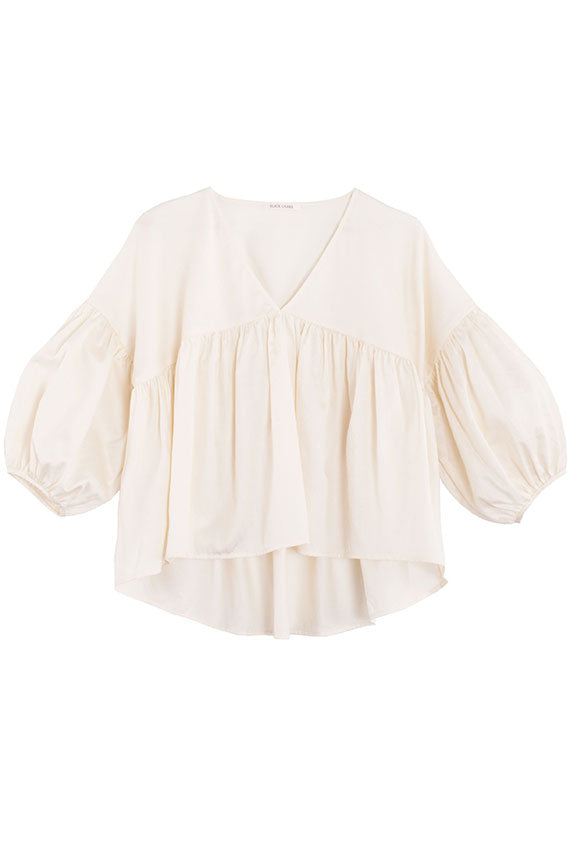 Cream Puff Sleeve Top
