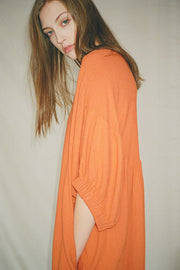 Black Crane - Orange Xiao Dress