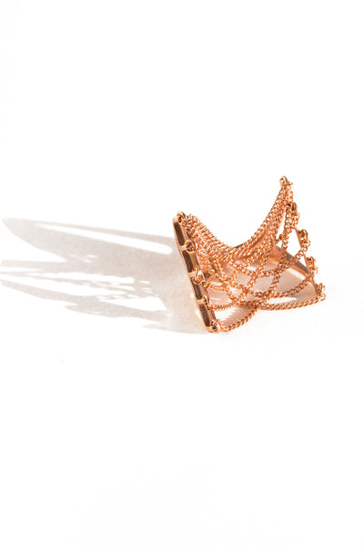 Rose Gold Suspension Ring
