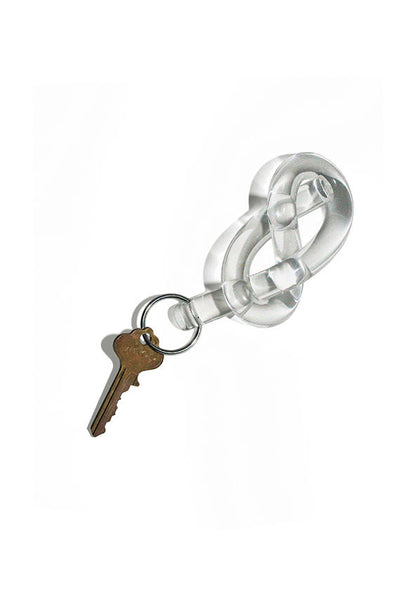 Clear Figure Eight Keychain