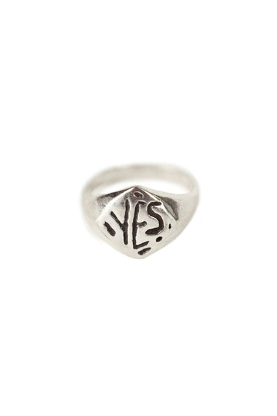Silver Yes Ring