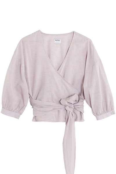 Lilac Collette Wrap Top