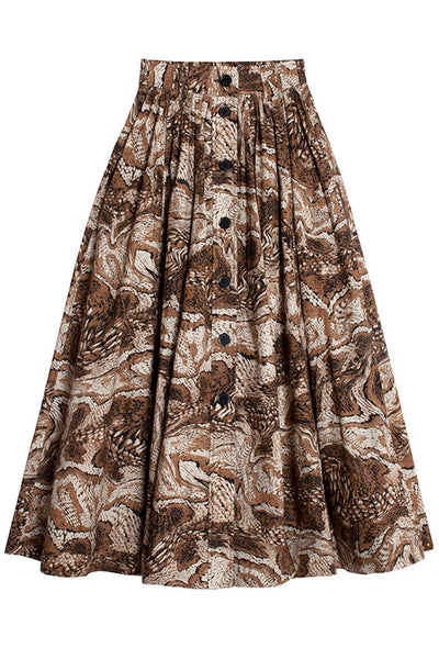 Tiger's Eye Maxi Skirt