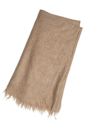 Light Camel Fringe Scarf