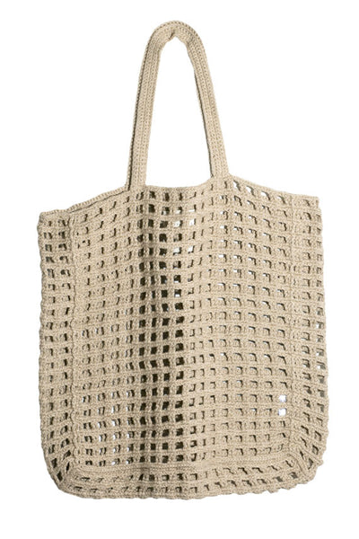 Natural Crochet Net Bag