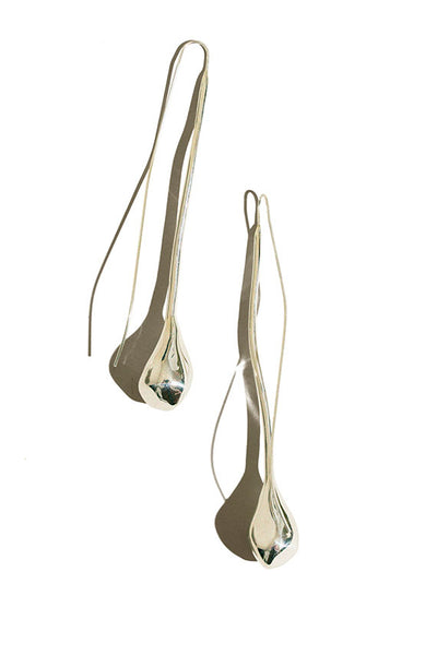 Silver Seapod Earrings