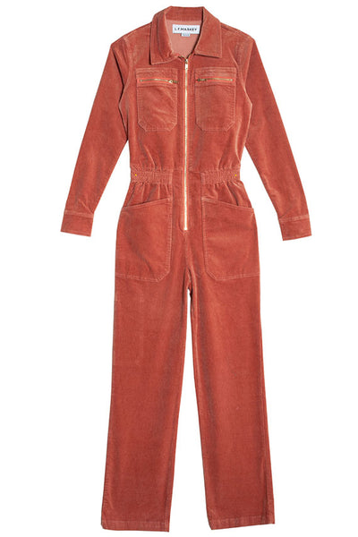 Copper Blush Danny Corduroy Boilersuit