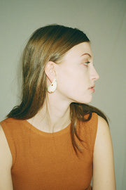 Dotted Cream Arp Earrings