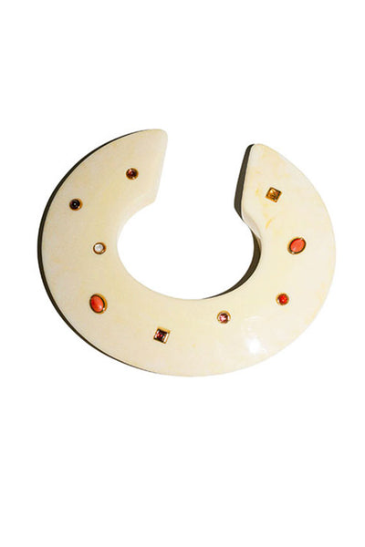 Dotted Cream Meridian Cuff
