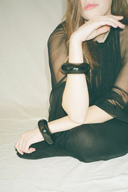 Exclusive Opaque Black Arc Cuff