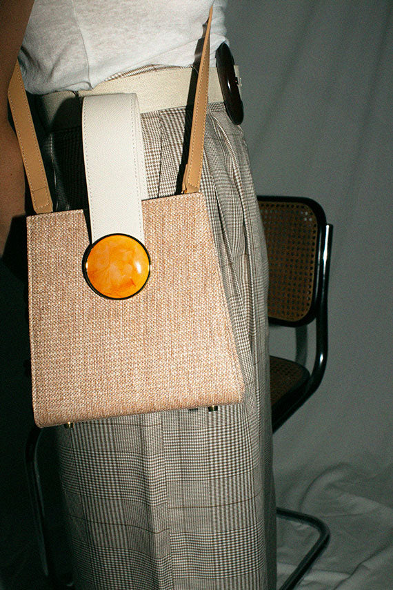 Tan Woven Pronto Bag