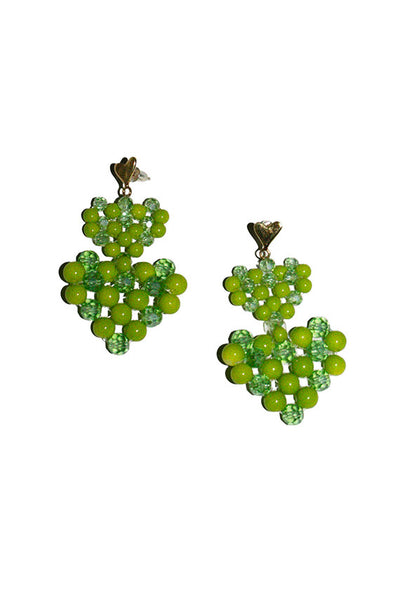 Green Lola Earrings