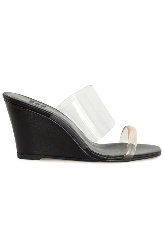 Black Olympia Wedge