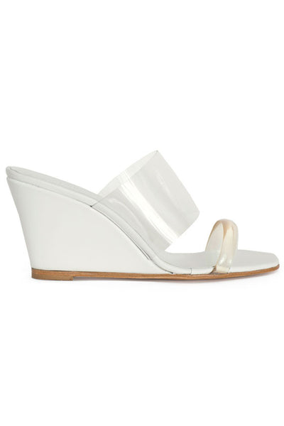 White Olympia Wedge