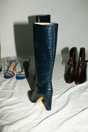 Navy Croc Hester Boot