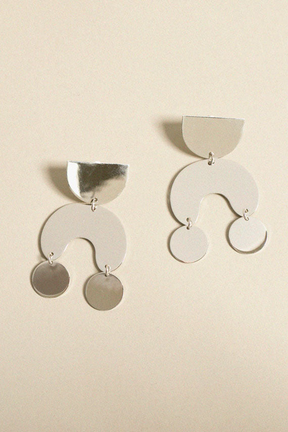 Silver Moondancer Earrings