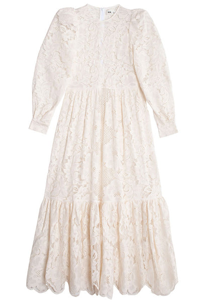 White May Lace Dress