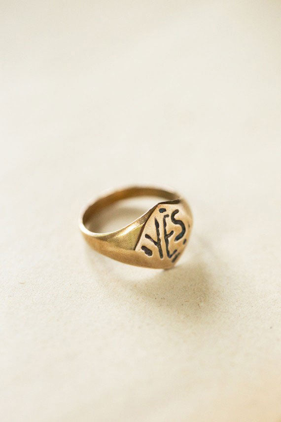 Bronze Yes Ring