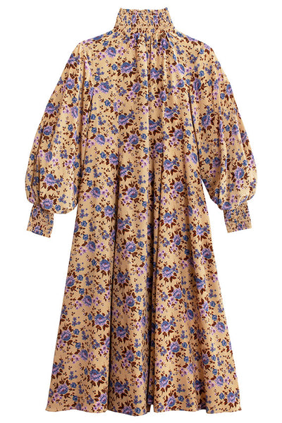 Camel Bouquet Reid Dress