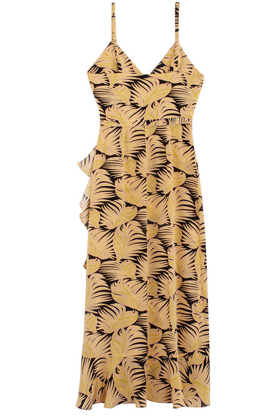 No. 6 Chartreuse Fern Sonia Dress
