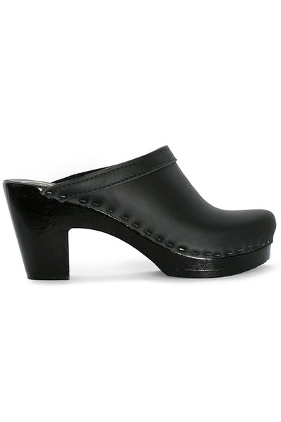 Black Old School Clog w Black Platform