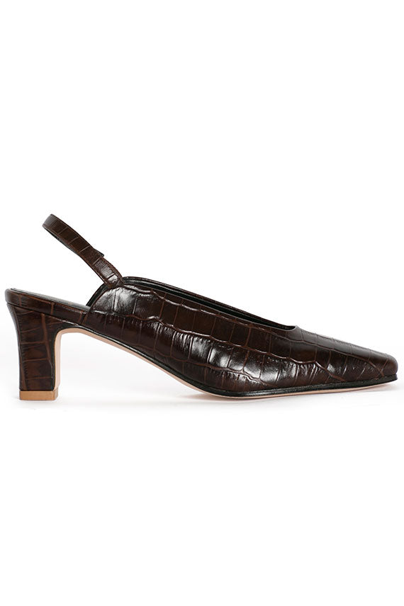 Coffee Croc Renee Slingback