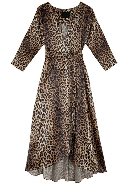 Leopard Georgia Wrap Dress