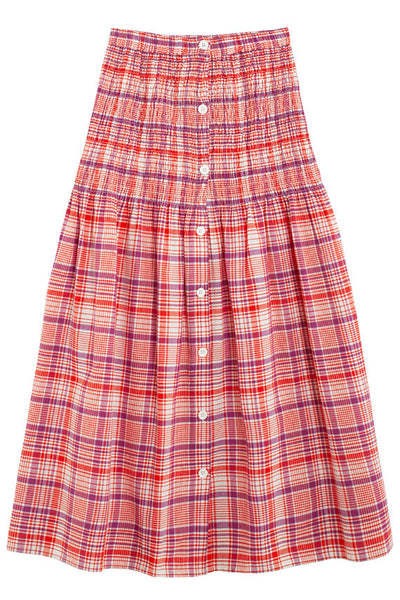 Plaid Hudson Smocked Skirt