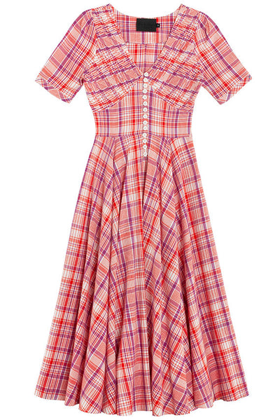 Plaid Paola Circle Dress