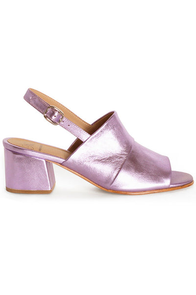Violet Crinkle Layla Covered Heel