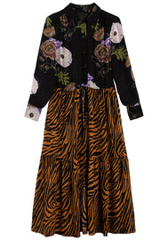 Zebra Hyacinth Roman Dress