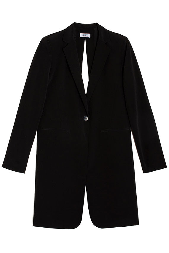 Black Slit Back Coat
