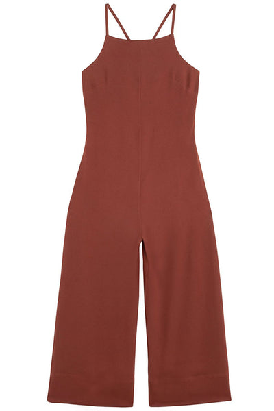 Clay Cropped Strap Jumpsuit