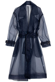 Navy Sheer Trench Coat