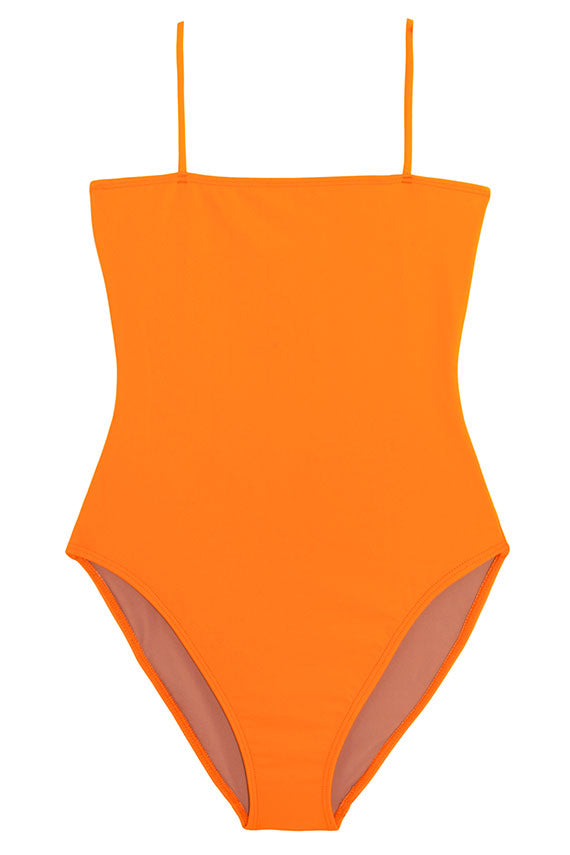 Orange Straight One Piece