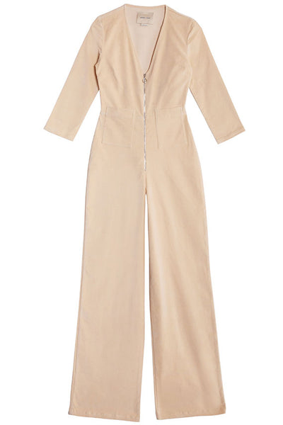 Cream Isle Jumpsuit