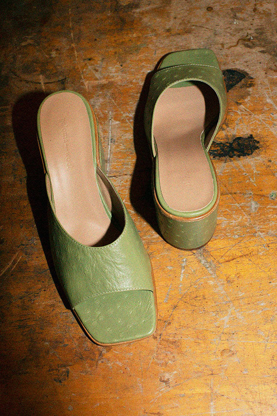 Olive Green Simon Wedge