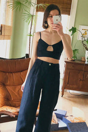 Dark Navy Alf Top