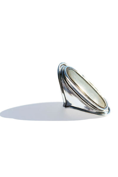 Silver Two Tone Mood Ring