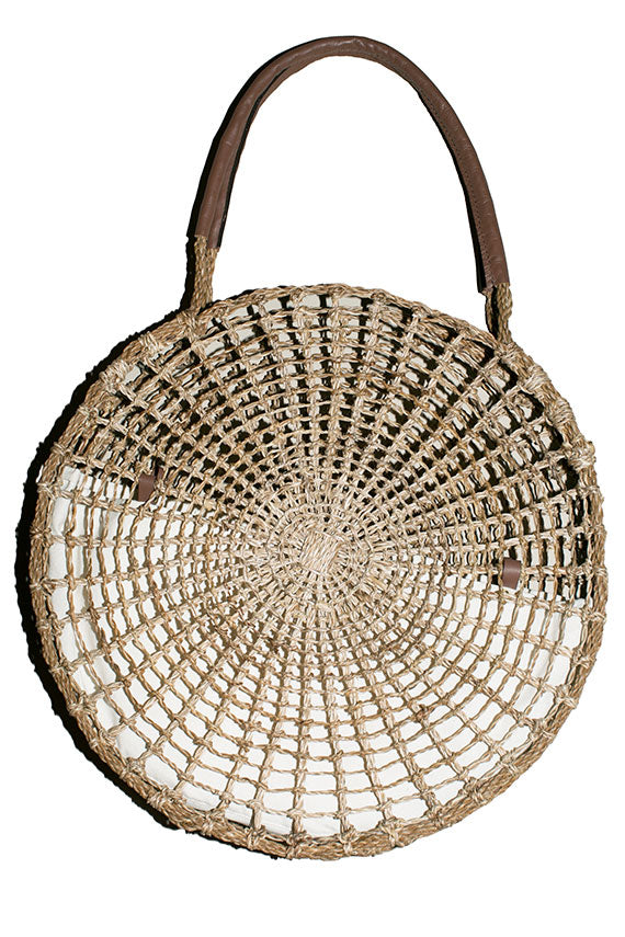Natural Circle Market Tote