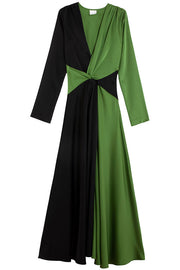 Black Green Thistle Dress
