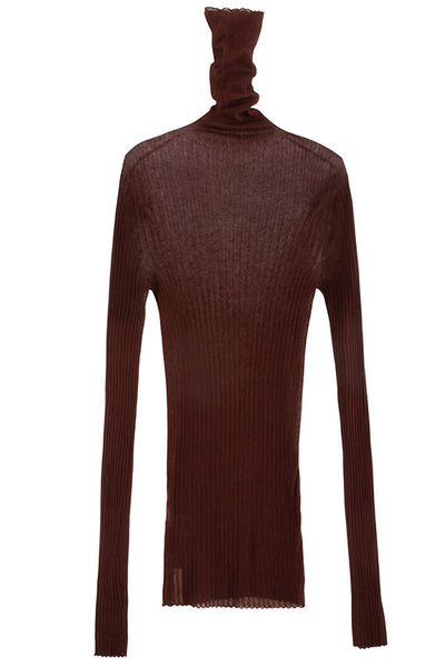 Paris Georgia - Chocolate Standard Turtleneck