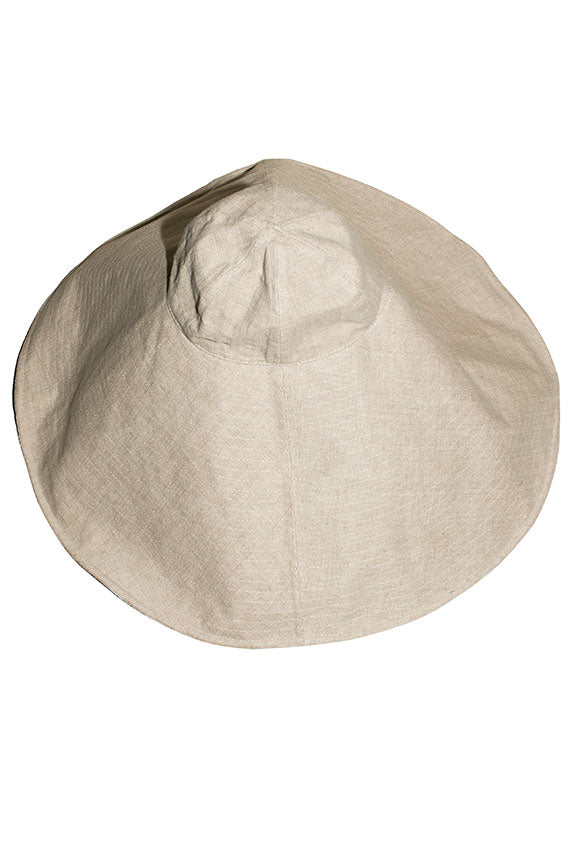 Natural Extra Wide Brim Hat