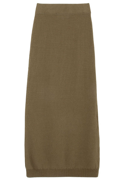Khaki Knit Orlena Skirt