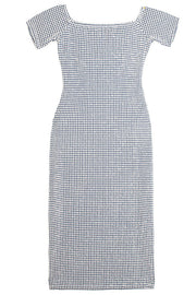 Gingham Embossed Sara Dress