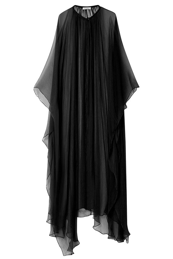 Black Khira Crinkle Cape