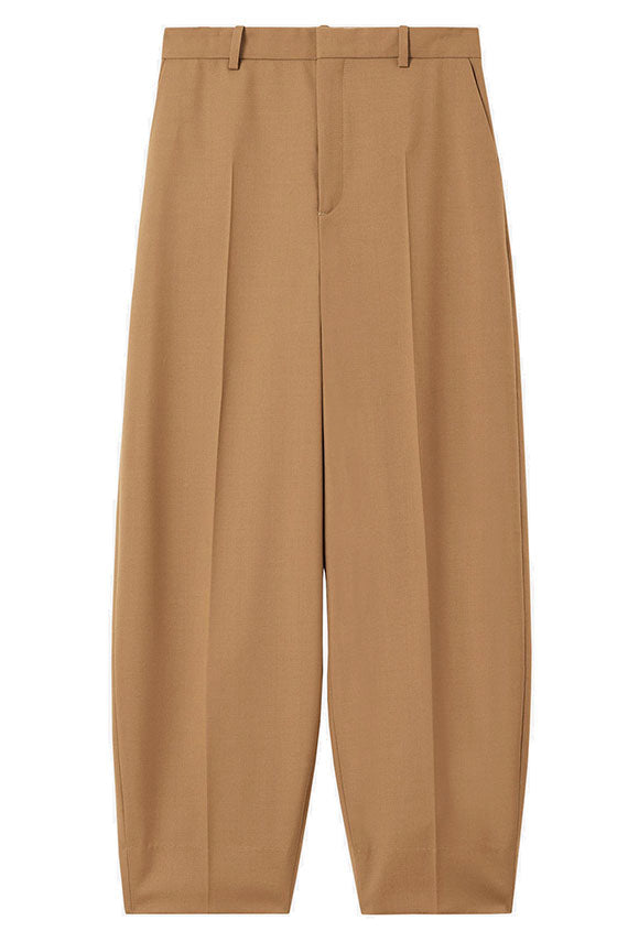 Rodebjer minimalist Aia trouser, pleated front pants, cropped with a bulb shape