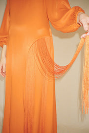 Clementine Majorelle Fringe Dress